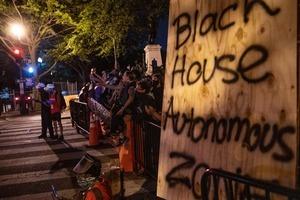 示威者在白宮旁建「黑宮自治區」 特朗普回應