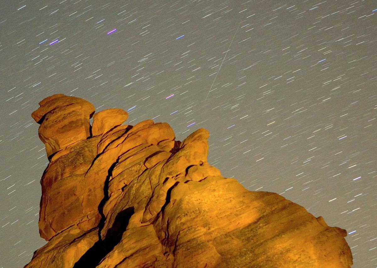 流星雨資料圖。(Ethan Miller/Getty Images)