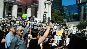 捍自由反送中 溫哥華千人集會力挺香港人