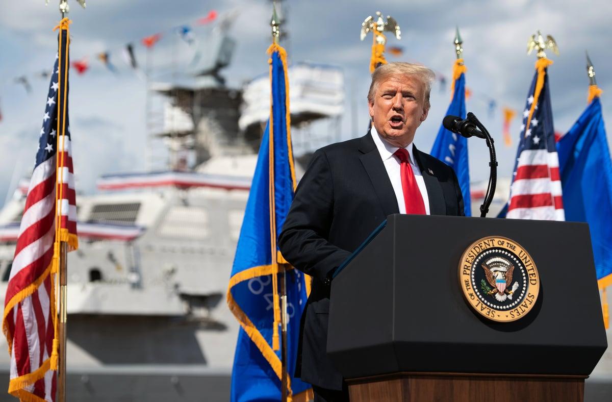 美國總統特朗普6月25日在一個訪談中談到了中美經濟。圖為特朗普總統資料照。(Photo by SAUL LOEB/AFP)