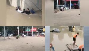 【一線採訪】目擊大水洶湧 鄭州馬路成河