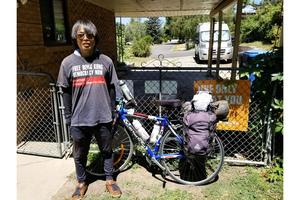 支持港人抗暴政 大陸青年正單騎橫穿美國