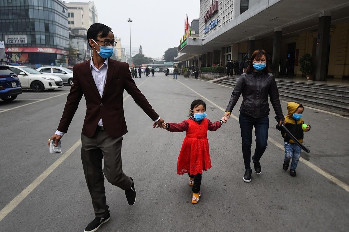 中共肺炎疫情持續升級,越南於2020年2月1日宣佈國家進入防疫狀態。(NHAC NGUYEN/AFP via Getty Images)