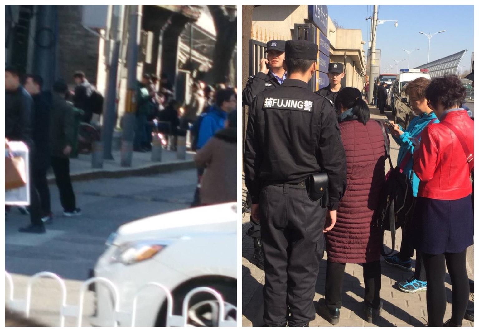 兩會期間傳出公安部、國家信訪局警察有疑似賣訪行為,訪民惱火。(大紀元合成圖)