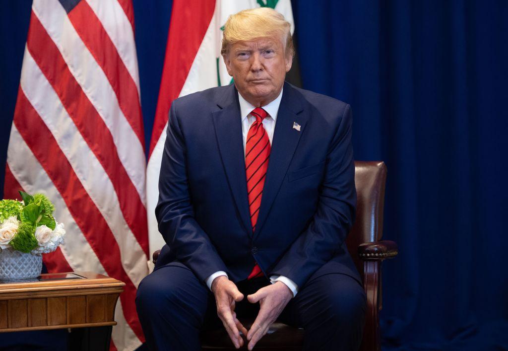 美國總統特朗普24日表示,將在9月25日公佈他7月份時與烏克蘭總統完整的通話紀錄。(SAUL LOEB/AFP/Getty Images)