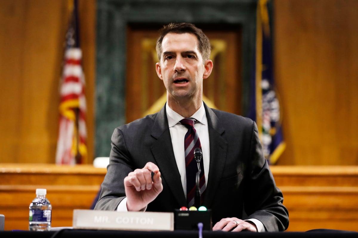 美國聯邦參議員科頓督促美國取消中國(中共)的永久最惠國待遇。圖為科頓資料照。(Andrew Harnik/POOL/AFP)