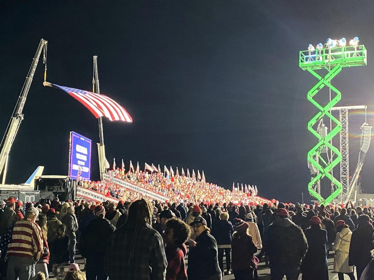 2020年12月5日特朗普佐治亞州集會現場。(李桂秀/大紀元)
