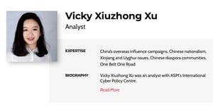澳洲華裔女子撰寫維吾爾人強迫勞動報告成中共五毛標靶