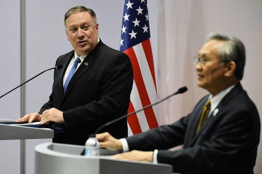 東盟外長會議 蓬佩奧批中共霸凌東南亞鄰國