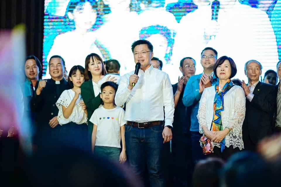 高雄市立委趙天麟尋求三連任成功。(立委趙天麟競選辦公室提供)