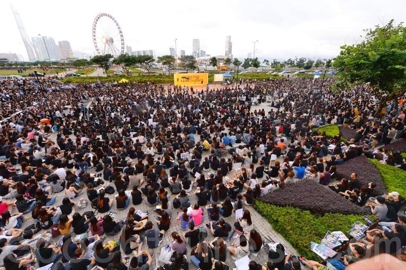 2019年8月2日,香港中環愛丁堡廣場醫護集會。(宋碧龍/大紀元)