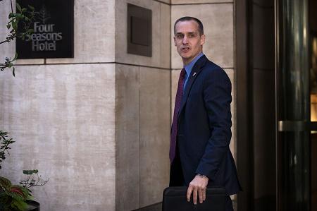 圖為前美國總統特朗普的競選顧問萊萬多夫斯基(Corey Lewandowski)。(Drew Angerer/Getty Images)