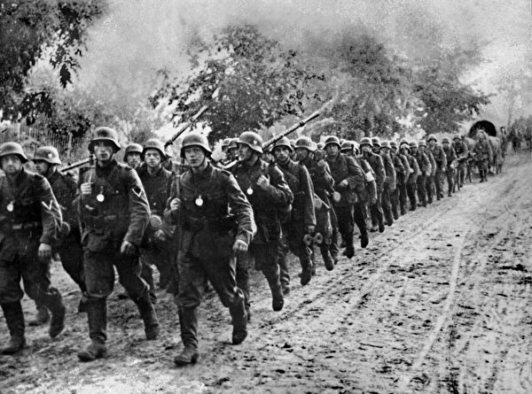 1939年9月1日,德軍入侵波蘭。(STF/AFP via Getty Images)