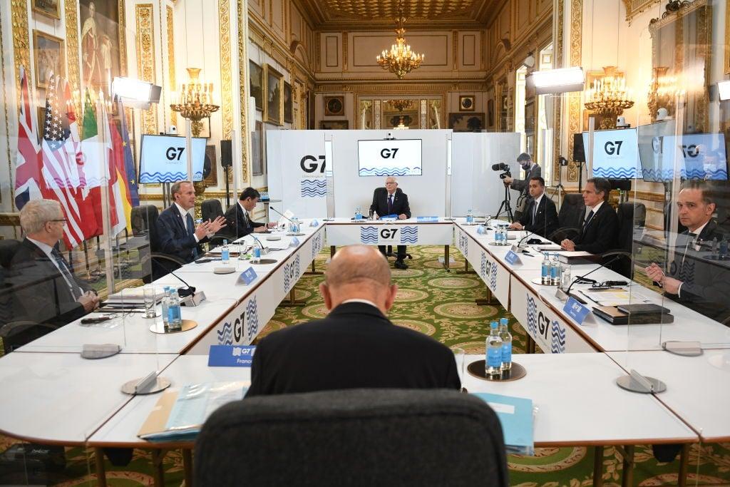 2021年5月4日,西方七國集團外長會議在倫敦舉行。(Stefan Rousseau-WPA Pool/Getty Images)