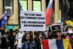 【9.29反極權】墨爾本港人集會反共 大陸生明真相