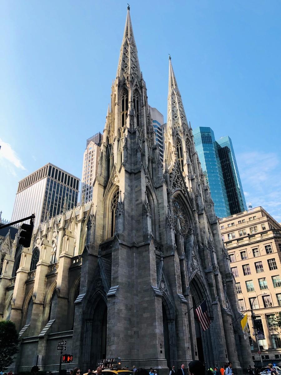 攝於2019年5月20日的紐約市聖帕特里克大教堂。(Daniel SLIM/AFP)