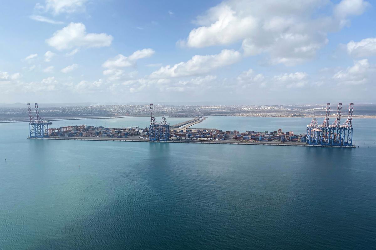 吉布提(Djibouti)港口。(攝於2021年2月21日)。(Daphne BENOIT/AFP)