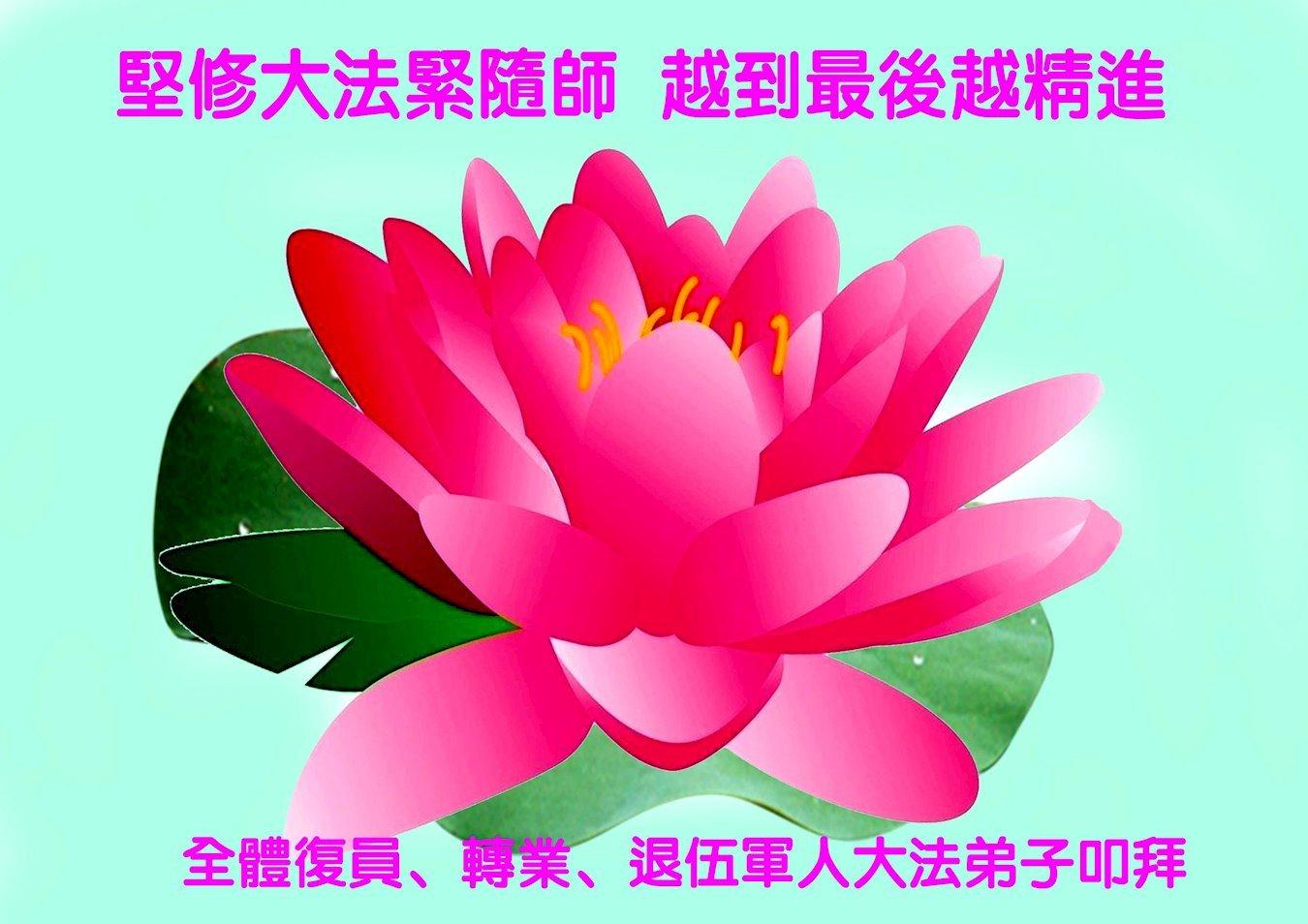 復員、轉業、退伍軍人大法弟子恭祝李洪志大師新年快樂!(明慧網)