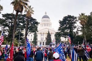 美加州民眾集會 聲援國會選舉人票挑戰