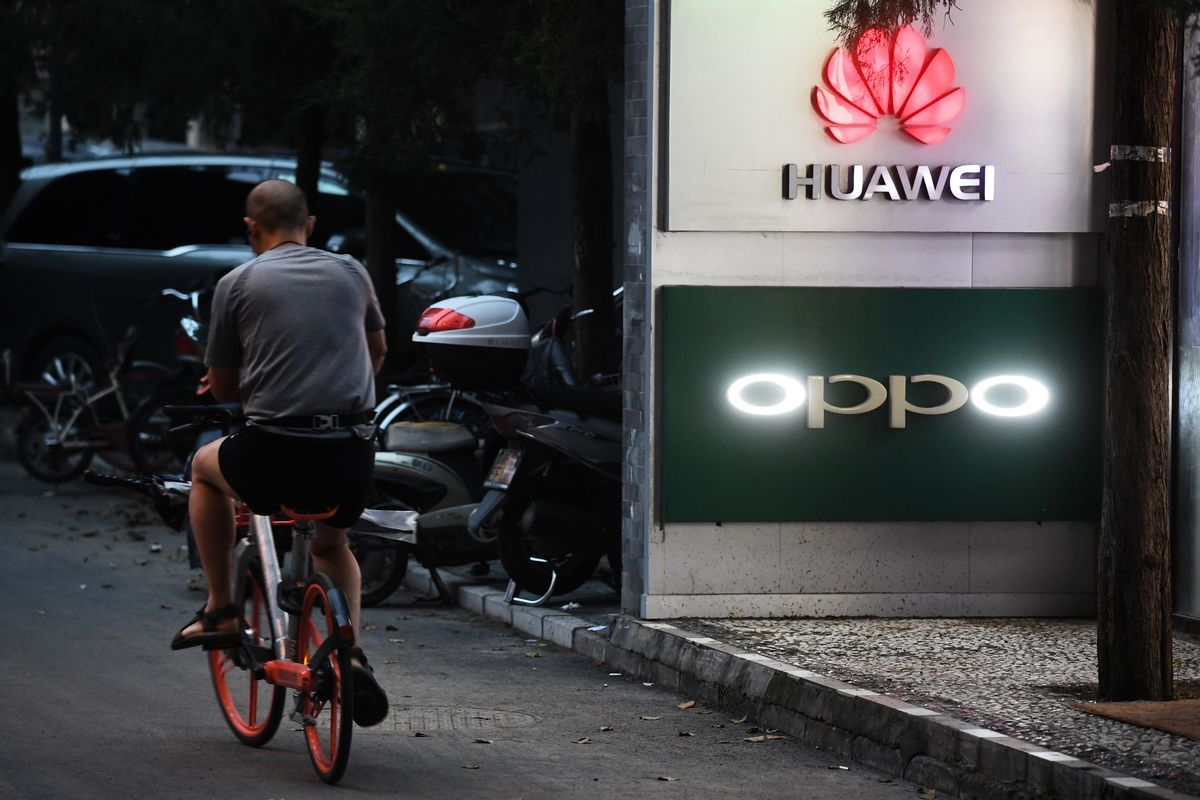 繼美國、澳洲及紐西蘭禁用華為設備後,德國及英國越來越擔心使用華為5G設備可能衍生的國家安全問題。(GREG BAKER/AFP/Getty Images)