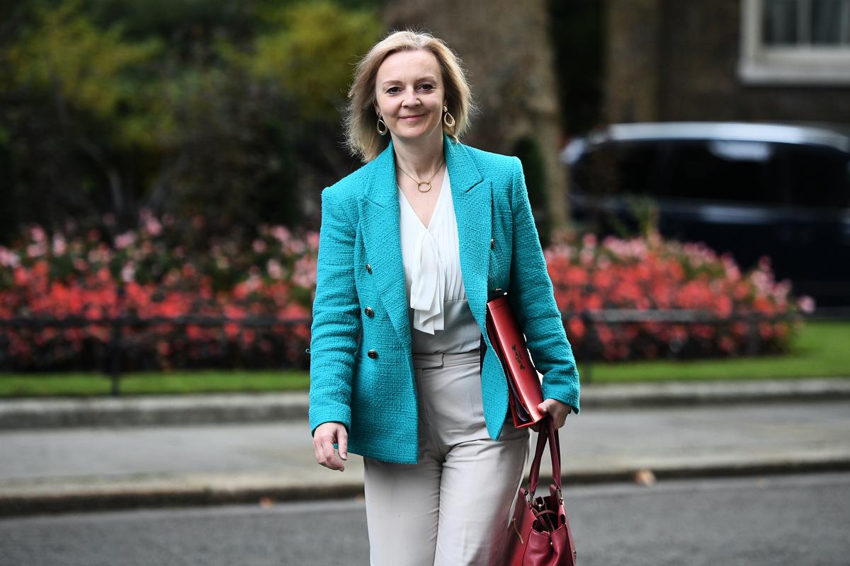 英國國際貿易大臣莉茲·特魯斯(Liz Truss)。(Leon Neal/Getty Images)