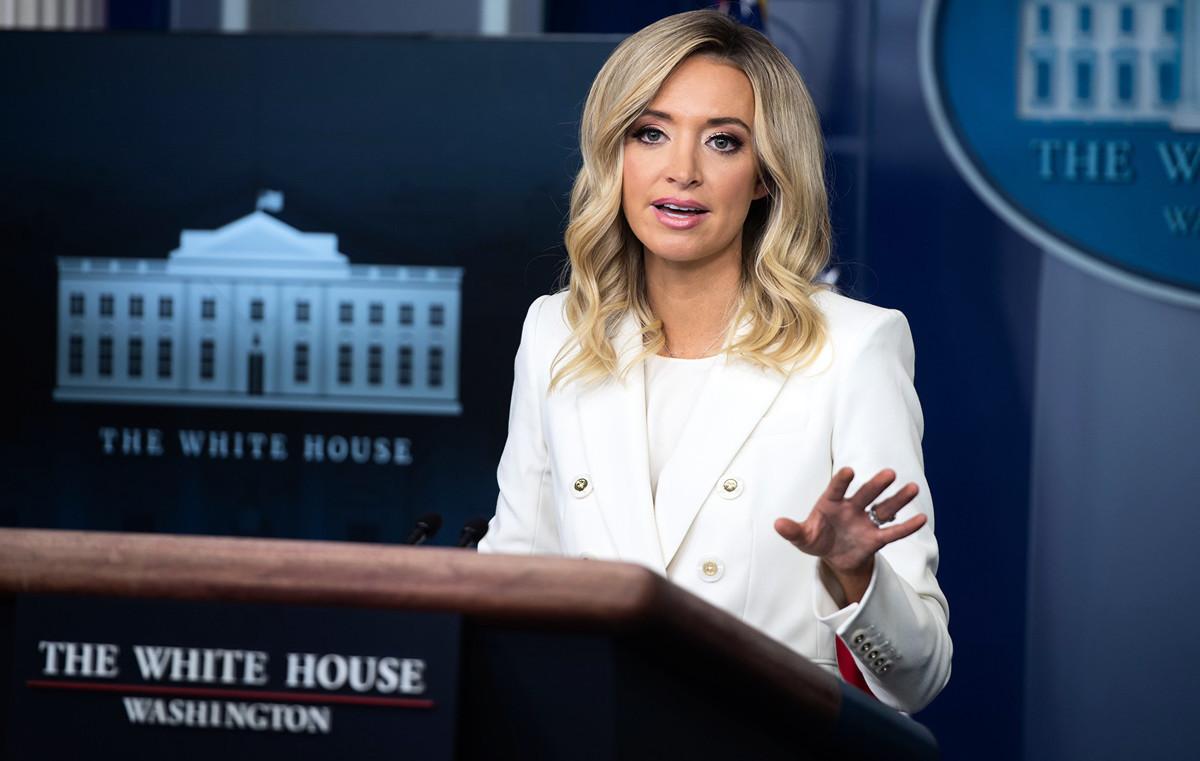 美國白宮新聞發言人凱莉·麥肯納尼(Kayleigh McEnany)表示,有些案件將會提交至聯邦最高法院。圖為白宮新聞發言人凱利‧麥肯納尼(Kayleigh McEnany)。資料圖。(SAUL LOEB/AFP)