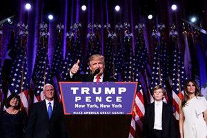 特朗普贏得大選 開始考慮下屆內閣任命