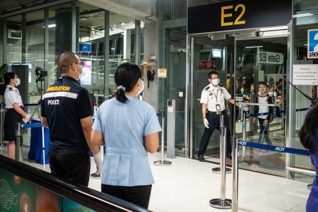 泰國出現第二個中共肺炎(俗稱武漢肺炎、新冠肺炎)病例。圖為1月8日的泰國曼谷機場。(Lauren DeCicca/Getty Images)