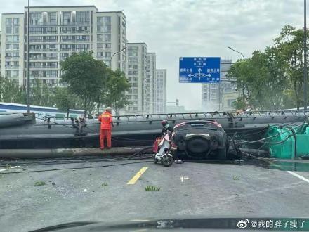 寧波打樁機砸中轎車兩死 死者傳為名企老總