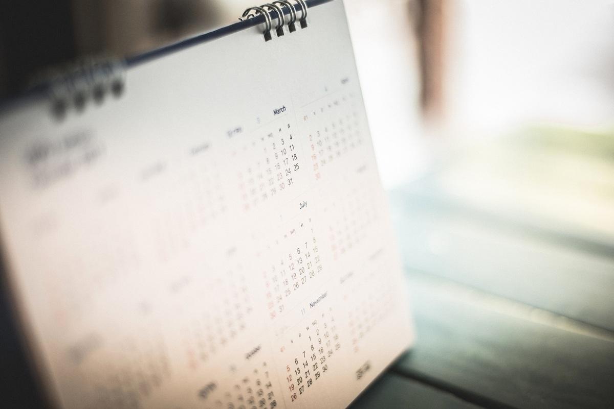 因為改用曆法,所以英國在1752年少了11天。此為桌曆的示意圖。(Shutterstock)