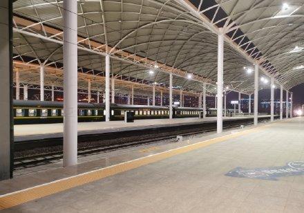 1月29日石家莊高鐵站,只能下不能上。(微博圖片)
