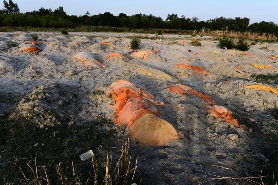 印度疫情慘 恆河飄大量浮屍 警方跨河拉網