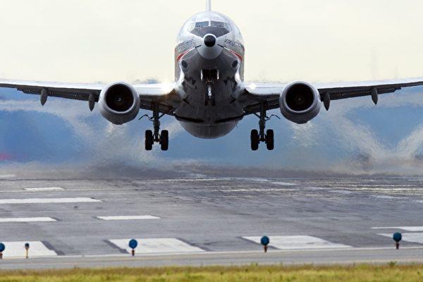 9月4日,中共當局發佈公告稱,美東時間9月15日0時起,從美國赴華乘客提前3天進行核酸檢測。圖為飛機示意圖。(Saul LOEB/AFP)