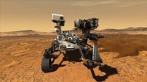 NASA毅力號成功登陸火星 發回首張照片