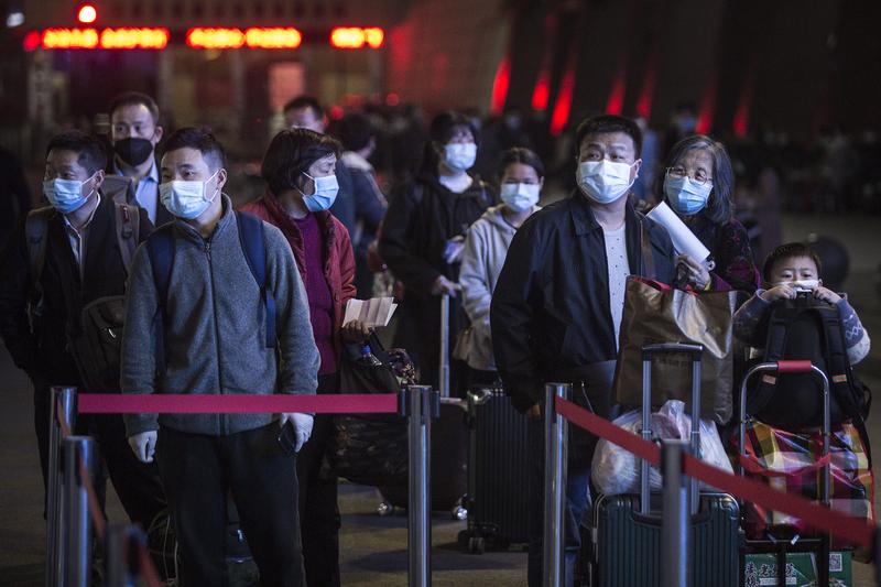 組圖:武漢解封 數萬人連夜出逃