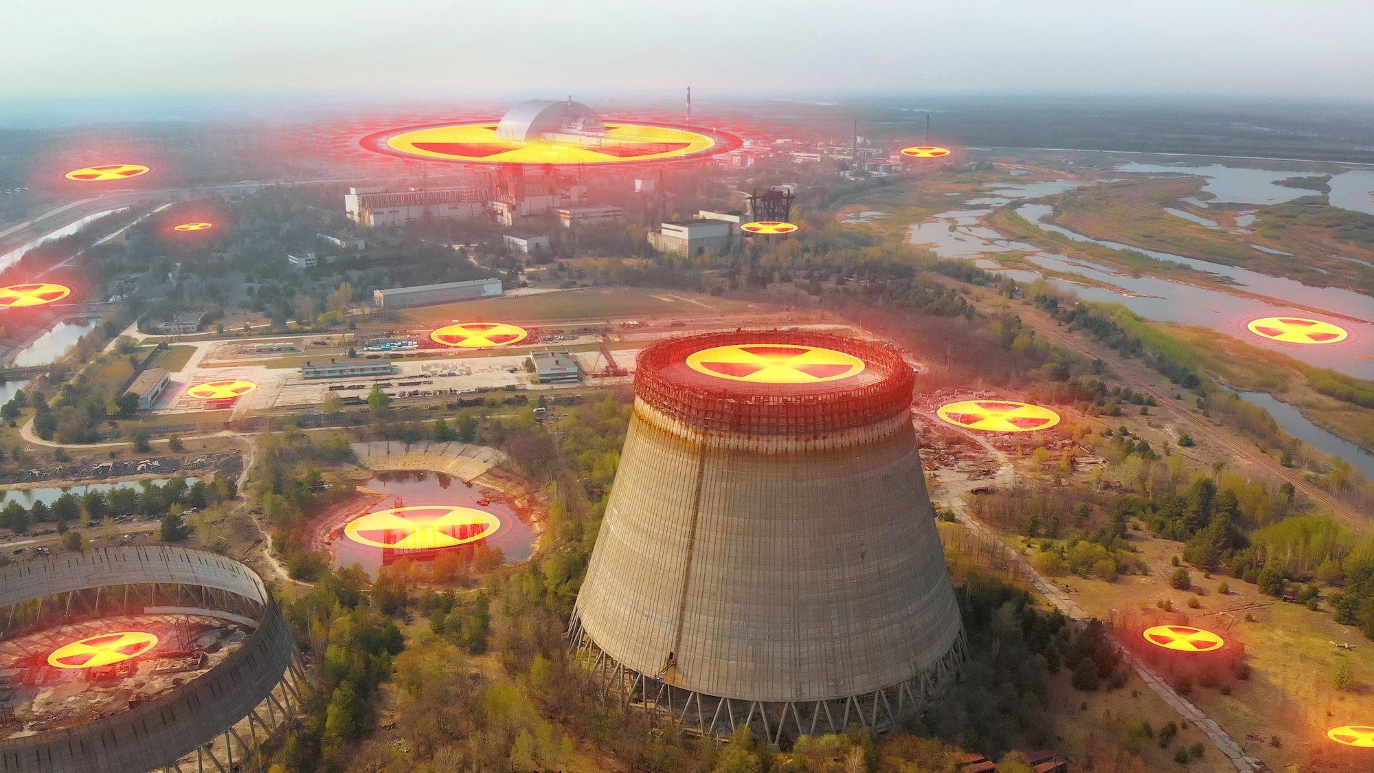 切爾諾貝爾核輻射示意圖。(ShutterStock)