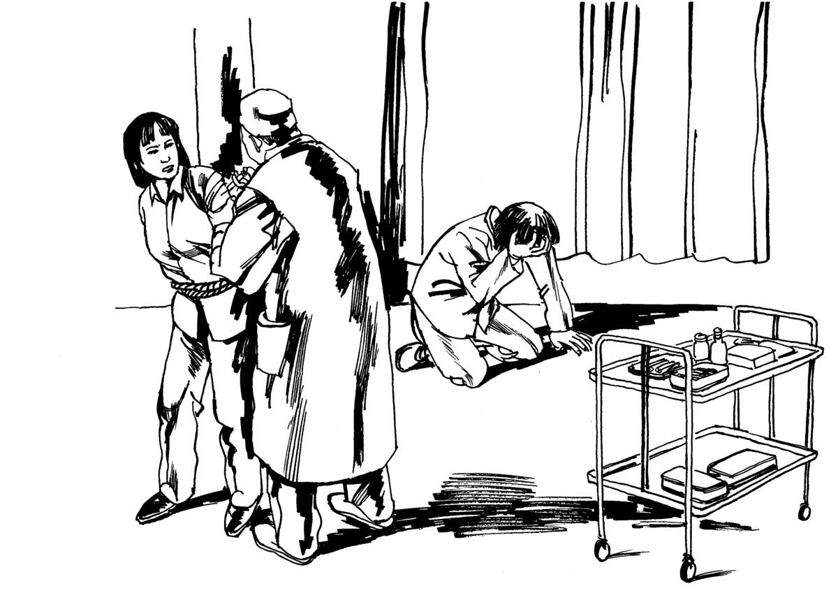 修煉法輪功的女學員被中共人員迫害,包括強行墮胎。(明慧網)