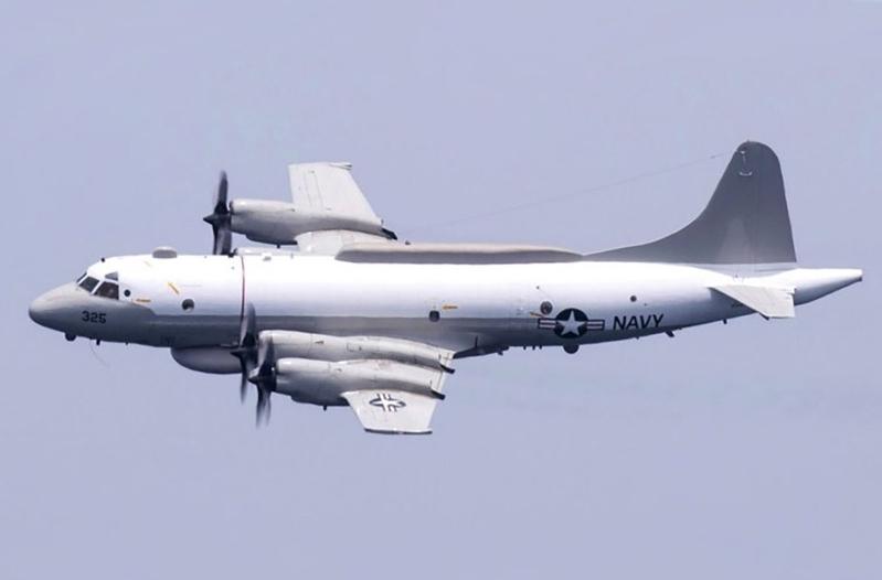 台灣立委王定宇在臉書分享根據「飛機守望」2月18日提供的飛行路線顯示,一架隸屬於美國海軍的EP-3E「白羊座」電子偵察機,在南海上空進行了飛行,隨後穿越巴士海峽,沿台灣南面海域,飛回駐日美軍的嘉手納空軍基地。(維基共享資源,版權屬公有領域)