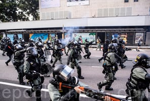 十一北京閱兵 港警開槍發射2720枚各類彈