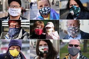 疫情時期必戴口罩 德國人自製時尚口罩走俏