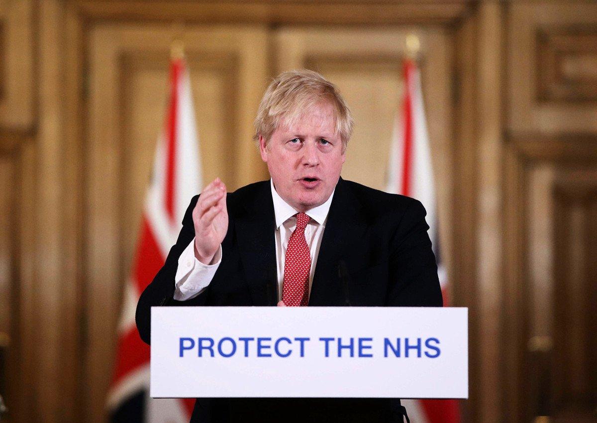3月27日,英國首相約翰遜被宣佈確診患上中共肺炎(武漢肺炎)。(Ian Vogler / POOL / AFP)