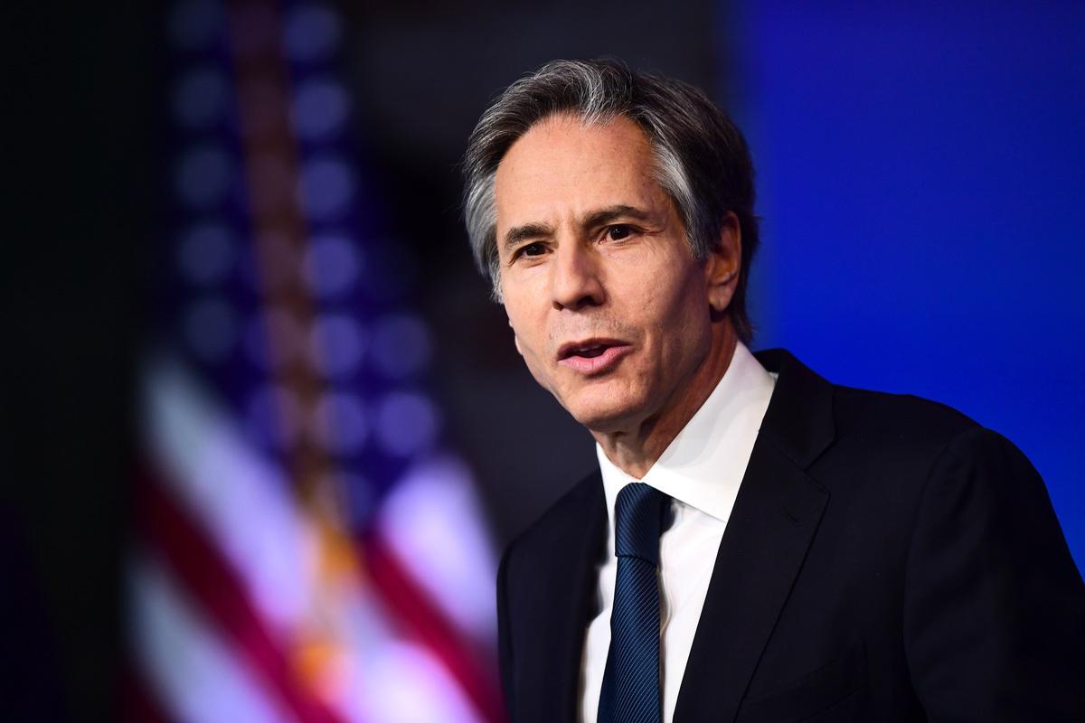 美國國務卿布林肯資料照。(Mark Makela/Getty Images)