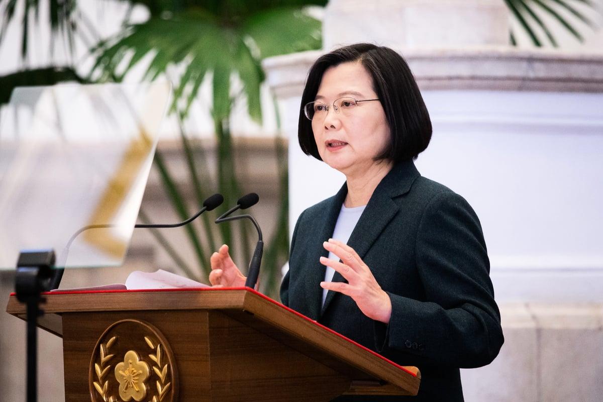 總統蔡英文3月19日發表談話,呼籲各國必須要加快合作腳步,台灣也願意貢獻自己的防疫能量,照顧所有人類的健康。(陳柏州/大紀元)