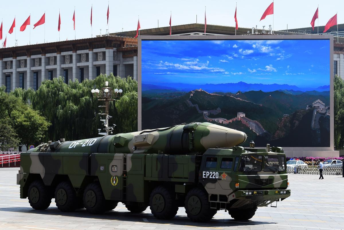 中共東風21D導彈。(GREG BAKER/AFP)