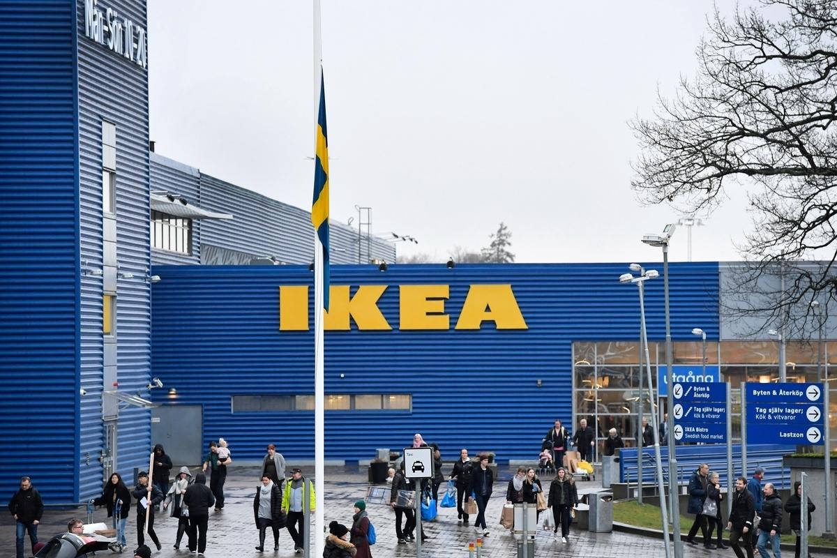 瑞典宜家家居(IKEA)近日宣佈,將在瑞典所有的分店新增「循環商店」,令傢俬可重新使用。圖為2018年1月28日拍攝的位於瑞典首都斯德哥爾摩的一家宜家店面。(ANDERS WIKLUND/AFP via Getty Images)