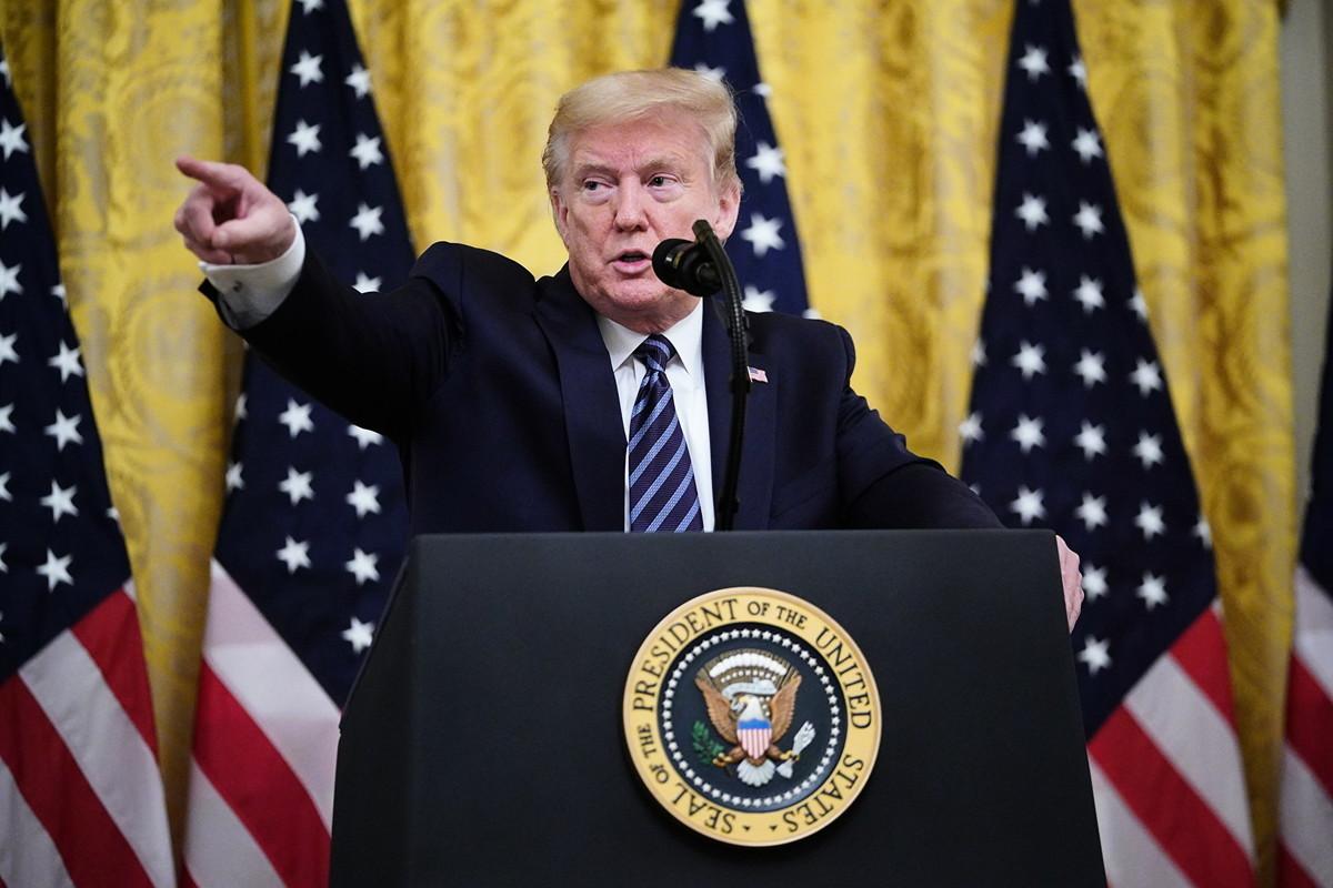美國總統特朗普(如圖)周四(2020年4月30日)在白宮表示,這場疫情極大地改變了他對習近平的看法。(MANDEL NGAN/AFP)