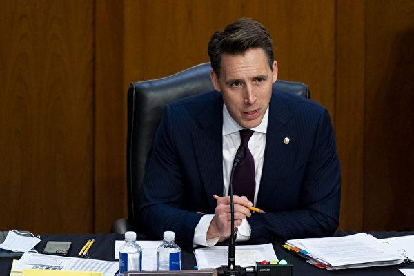 共和黨參議員里克‧斯科特和喬什‧霍利(Josh Hawley,見圖)於2月9日提出「世界衛生組織究責法案」,要求世衛及其領導人譚德塞為幫助中共掩蓋有關中共病毒威脅的信息擔責。 (Rick Scott)(Bill Clark/POOL/AFP)