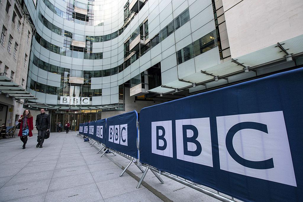 BBC在倫敦的總部。(Oli Scarff/Getty Images)