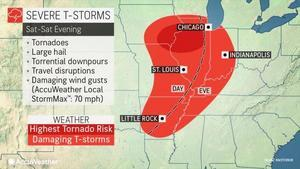 強風暴龍捲風冰雹襲美中西部 影響七千萬人