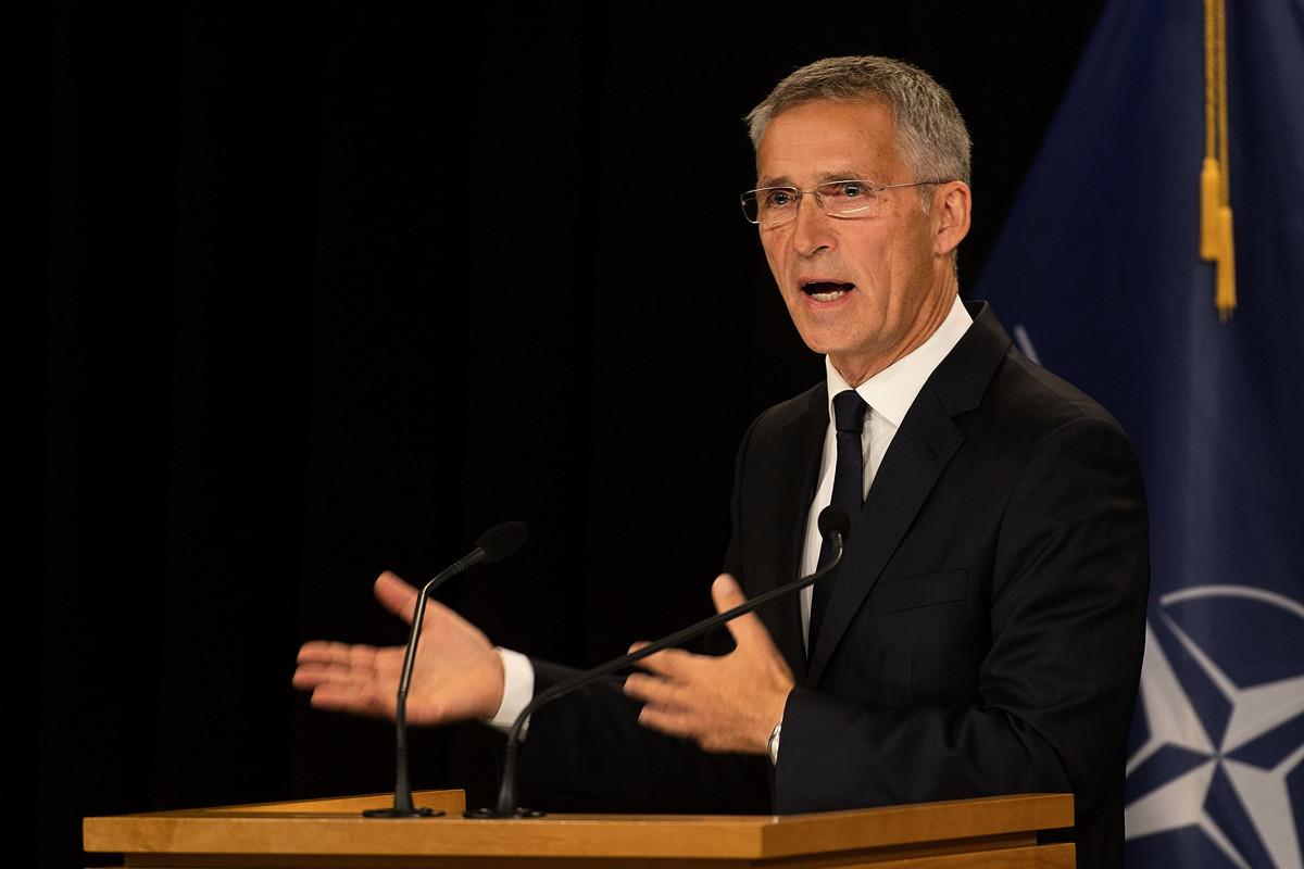 北約秘書長斯托爾滕貝格11月30日表示,中共給北約帶來了重要挑戰。( Marty MELVILLE/AFP)